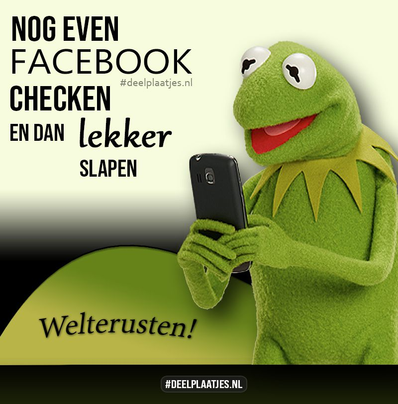 facebook checken dan slapen