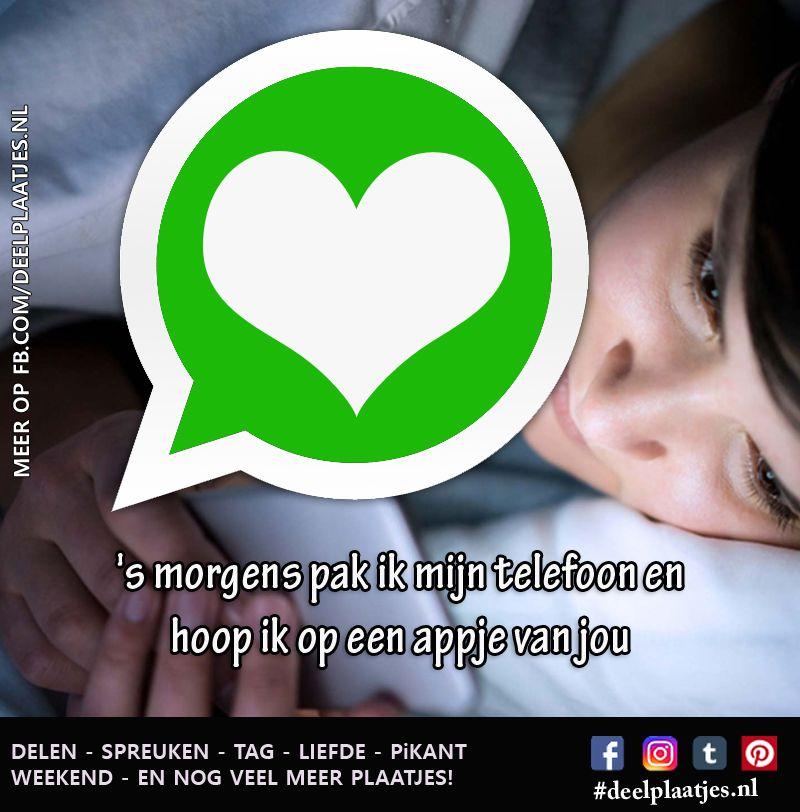 Hoop Ik Op Een Appje Whatsapp