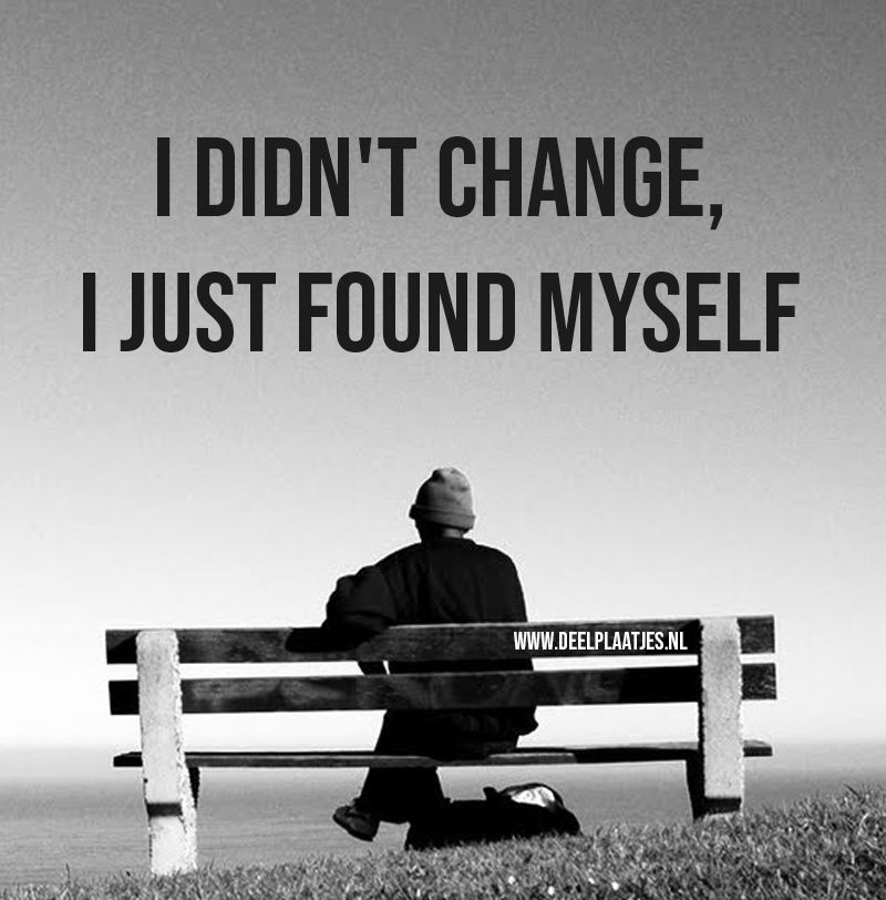 i did not change