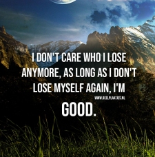 dont care who i lose