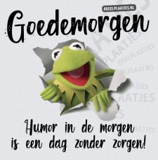 humor in de morgen