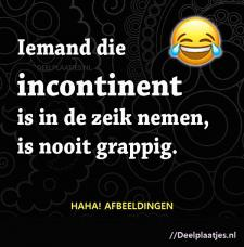 iemand die incontinent is