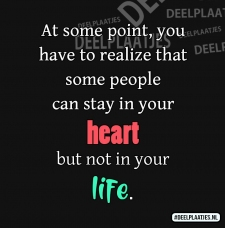 in your heart not in your life