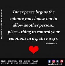 inner peace begins the minute you