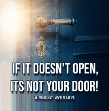 its not your door