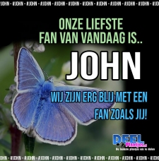 john is de liefste fan