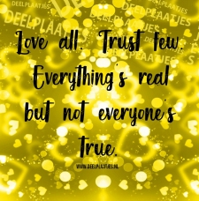 love all trust few