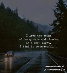 love the sound rain and thunder