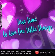 take time to love