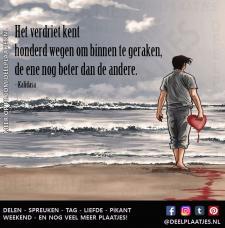 spreuken verdriet Verdriet kent honderd wegen   Spreuken spreuken verdriet