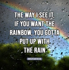 you want the rainbow