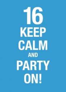 gefeliciteerd 16 keep calm