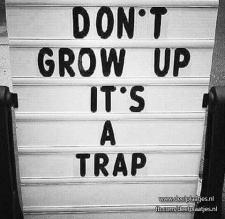 dont grow up, its a trap!