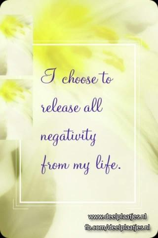 release all negativity